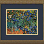"""Irises In The Garden"" Framed Print by Vincent van Gogh"