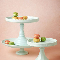 Sweetest Day Cake Stand - With classic lines and the subtlest of details, these porcelain cake stands are the perfect way to show off your mom's sweets — and I'm sure she will be sweeter to you too!