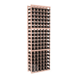 6 Column Standard Cellar Kit in Redwood with White Wash Stain - Six columns for bottle storage is a perfect solution for 9 cases of wine. The modular format ensures you can expand storage without worrying about new racks lining up properly. We construct every rack to our industry-leading standards. You'll love our racks. Guaranteed.