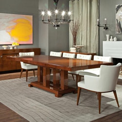 SELVA - Transitional Dining Table,