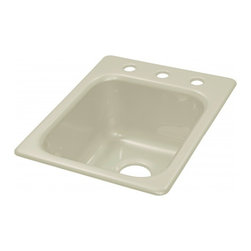 """Lyons - Lyons Deluxe DKPREP09 Acrylic Kitchen Sink - Lyons Industries Single Bowl Biscuit acrylic kitchen Prep sink 8"""" deep with three faucet holes on 8"""" centers. This standard self rimming 16""""X22"""" sink is easy to install as a remodel or new construction project. This sturdy sink has durable easy to clean high gloss acrylic construction with a fiberglass reinforced insulation backer. This sink is quiet and provides a superior heat retention than other sink materials meaning your water stays warm longer. Lyons sinks come with a simple mounting tab and clip system to firmly fasten the sink to the countertop and reinforced drain areas for safely supporting a garbage disposal. Detailed installation instructions include the cut-out specifications. Lyons sinks are proudly Made in America by experienced artisans supporting our economy."""
