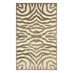 "nuLOOM - Contemporary 9' x 12' 7"" Cream Machine Made Area Rug Zebra Print - Made from the finest materials in the world and with the uttermost care, our rugs are a great addition to your home."