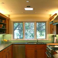 Traditional Tile by Marin Designworks Glass Tile Design & Waterjet Art