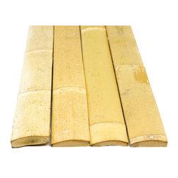 """Bamboo Slats Natural Tan 1.75""""D x 6'H - 25 Piece Bundle, Stained Mahogany - Bamboo Slats Mahogany - 25 Piece Bundle"""