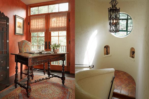 Mediterranean Home Office by Catherine Macfee Interior Design