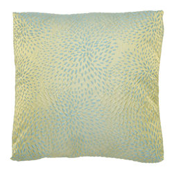 Brandi Renee Designs - Green and Teal Polyester Dotted Pillow - Like a contemporary piece of artwork, this striking accent will add visual interest to any living area. The cozy pillow insert is decorated with an abstract green and teal dotted design. This colorful accessory has just the right amount of charm and graphic appeal to enhance your interior.