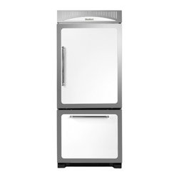 """Heartland - Classic Series HCBMR19RWHT 30"""" 18.5 cu. ft. Bottom Freezer Refrigerator  Adjusta - The Heartland HCBMR19RBLK is packed with features such asHumidity Controlled Drawers Electronic Touch Controls and Adjustable Spillsaver Glass ShelvingThisBottom Mount Refrigerator boasts185 Cu Ft Capacity andis also Energy Star Rated"""