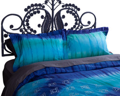 koi Design - Turquoise Dip Dye Duvet Set - Give your bed a modern makeover with this sophisticated bedding from our new koi Home Collection. Each Duvet Set is made from soft and silky 300-thread count cotton sateen in the koi prints you love.