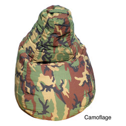 Gold Medal - Gold Medal Dorm-style Teardrop Bean Bag - This durable gamer teardrop bean bag features a cover with double stitching and a pocket that is ideal for cell phone or remote. The comfortable tear drop shape is easy on the back. It is ideal for studying, gaming, watching TV or just hanging out.