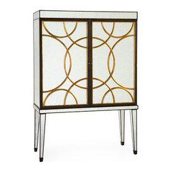 "John Richard Cirque Bar Cabinet - 75""H x 53""W x 21""D"
