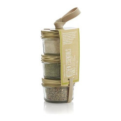 Kitchen Essentials Trio - Flavor-forward spice blends with all natural ingredients add versatility to your pantry in three distinct profiles. Small-batch blends of Garlicky Lemon Pepper, Roasted Garlic Celery Salt and Caramelized Onion Powder are gluten-free and contain no MSG or artificial flavors.