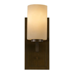 Murray Feiss - Murray Feiss Preston Transitional Wall Sconce X-ZBTH-10951SV - True craftsman design is what propels the Murray Feiss Preston wall sconce to the ethos of lighting greatness. It is fabricated with bark textured glass and terrestrial metal finished in Heritage Bronze. The emitted, diffused light concocts a warming appeal in any modern home.