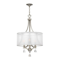 Fredrick Ramond - Mime Brushed Nickel Three-Light Pendant - Mime Brushed Nickel Three-Light Pendant Fredrick Ramond - FR45606BNI