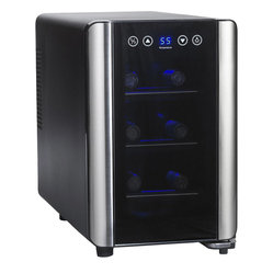 Wine Enthusiast 6-Bottle Silent Single-Zone Touchscreen Wine Cooler