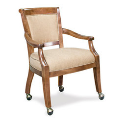 California House - eastgate chair w/ casters (fabric) - Manufactured in the USA, we are proud to offer our customers this premium game room furniture from a third generation, family-owned company.