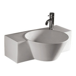 Whitehaus Collection - Whitehaus WHKN1110 Ceramic Rectangular Above Mount Bathroom Sink Basin - Whitehaus Collection bathroom sinks are modern sleek and stylish. A great option for anyone that wants a unique and eye catching bathroom design!