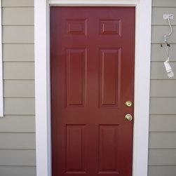 ProVia 6 Panel Smooth Steel Entry Door (Mountain Berry) - ProVia 6 Panel Smooth Steel Entry Door (Mountain Berry)