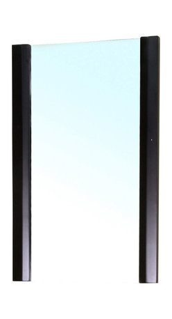Bellaterra Home - Solid Wood Frame Mirror-Black - Simple mirror with solid wood frame. Mirror dimension: 19.7 W x 2 D x 31.5 H