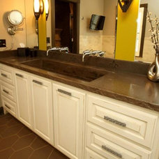 Mediterranean Bathroom Vanities And Sink Consoles by Barber Cabinet Co.