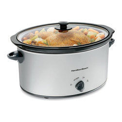 Hamilton Beach - Hamilton Beach 33176 7 qt. Oval Slow Cooker Multicolor - 33176 - Shop for Crock Pots and Slow Cookers from Hayneedle.com! Serve up some home-cooked goodness with the Hamilton Beach 33176 7 qt. Oval Slow Cooker. This high-performance slow cooker keeps your food warm and toasty until you're ready to serve. A handy lid latch strap keeps this cooker portable and the stoneware dish and glass lid are dishwasher-safe for easy cleanup.This adaptable slow cooker will suit any crockpot recipe so you can quickly prepare healthy delicious meals ready to eat when you come home!Dimensions: 14L x 14.9W x 9.8H inchesAbout Hamilton BeachOne of the country's leading distributors of small kitchen appliances Hamilton Beach Brands Inc. sells over 35 million appliances every year. The company's most famous brands -- Hamilton Beach Eclectrics Proctor Silex and TrueAir -- are found in households across America Canada and Mexico. Hamilton Beach takes immense pride in their product quality wide variety of options superior customer service and brand name strength and remains committed to serving customers through Good Thinking applied to the style and function in all of their small electric appliances.