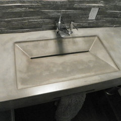 modern bathroom countertops by ConcretePete LLC