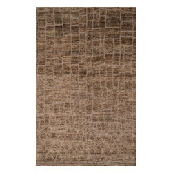 Loloi Rugs - Loloi Rugs Sahara Collection - Tan, 2' x 3' - If it's a stylish statement you seek to make, then we have the rug for you. From India, the Sahara Collection updates living areas with a fresh take on nomadic, Moroccan inspired rugs. Sahara is hand knotted with two different fibers - jute and wool- the later forms the ethnic patterns in each design. Available in traditional off-whites and gorgeous blues.