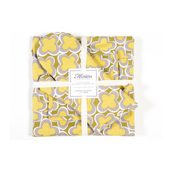 Working Class Studio - Marrakech Hostess Collection - Gift Set - Gecko - With its bold, Moroccan-inspired print, this set of matching pot holders, tea towels and apron will brighten any kitchen — and encourage any cook. A perfect housewarming or hostess present, or go ahead and gift it to yourself.