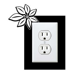 StickONmania - Outlet Plants #10 Sticker - a vinyl decal sticker to decorate a wall outlet.  Decorate your home with original vinyl decals made to order in our shop located in the USA. We only use the best equipment and materials to guarantee the everlasting quality of each vinyl sticker. Our original wall art design stickers are easy to apply on most flat surfaces, including slightly textured walls, windows, mirrors, or any smooth surface. Some wall decals may come in multiple pieces due to the size of the design, different sizes of most of our vinyl stickers are available, please message us for a quote. Interior wall decor stickers come with a MATTE finish that is easier to remove from painted surfaces but Exterior stickers for cars,  bathrooms and refrigerators come with a stickier GLOSSY finish that can also be used for exterior purposes. We DO NOT recommend using glossy finish stickers on walls. All of our Vinyl wall decals are removable but not re-positionable, simply peel and stick, no glue or chemicals needed. Our decals always come with instructions and if you order from Houzz we will always add a small thank you gift.