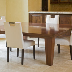 Custom Designed Furniture -- Dining Table - 7 ft square Mahogany Dining Table