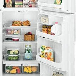 GE - GE Energy Star Top Freezer Refrigerator 18.2 Cu. Ft. - Features: