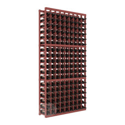 9 Column Standard Cellar Kit in Pine with Cherry Stain + Satin Finish - A 9 column solution from our most popular style of wine racking. Completely solid assembly to withstand extensive use. We guarantee it. All the edges of our products are softened to ensure you won't get nicks or splinters, like you will from budget brands. You'll be satisfied. We guarantee that, too.