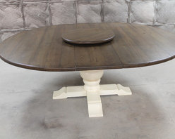 Round extension dining table - Made by www.ecustomfinishes.com