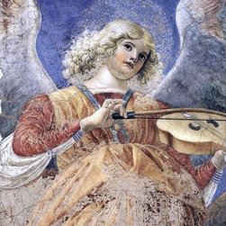 """Melozzo Da Forli Music-Making Angel - 16"""" x 20"""" Premium Archival Print - 16"""" x 20"""" Melozzo Da Forli Music-Making Angel premium archival print reproduced to meet museum quality standards. Our museum quality archival prints are produced using high-precision print technology for a more accurate reproduction printed on high quality, heavyweight matte presentation paper with fade-resistant, archival inks. Our progressive business model allows us to offer works of art to you at the best wholesale pricing, significantly less than art gallery prices, affordable to all. This line of artwork is produced with extra white border space (if you choose to have it framed, for your framer to work with to frame properly or utilize a larger mat and/or frame).  We present a comprehensive collection of exceptional art reproductions byMelozzo Da Forli."""