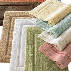 Luxor Linens - Mariabella Bath Rug - These luxuriously thick and absorbent Egyptian cotton rugs are cheerfully waiting to cushion your step from the bath and drink up your drips. They come in an array of uplifting spring colors to make your bathroom look as soft as it feels. Psst, you should also check out Luxor's matching Mariabella Turkish cotton towels.