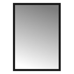 "Posters 2 Prints, LLC - 58"" x 83"" Soho Black Custom Framed Mirror - 58"" x 83"" Custom Framed Mirror made by Posters 2 Prints. Standard glass with unrivaled selection of crafted mirror frames.  Protected with category II safety backing to keep glass fragments together should the mirror be accidentally broken.  Safe arrival guaranteed.  Made in the United States of America"