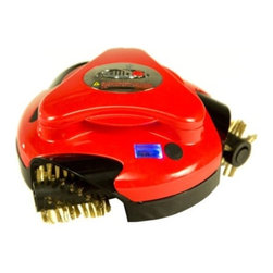 Grillbot RED Automatic Grill Cleaning Robot w/ 3 Replaceable Wire Brushes - Grillbot is the easy-to-use, fun to watch, fully automated device that easily cleans with just the push of a button. here are six reasons why grill cleaning has never been easier! Features:- Push-button operations: So simple anyone can do it.- 3 strong electric motors: The Grillbot is equipped with three high-power electric motors.- Replaceable wire brushes: Pop right off for easy cleaning and are dishwasher safe.- LCD alarm & timer: Set it and forget it. Grillbot's smart and will notify you when finished.-  Rechargeable Battery: Designed to provide hours of hands-free grill cleaning. Base model requires 6 D batteries, not included.- Smart Brain: The Grillbot is driven by a sophisticated CPU chip that controls the movement, speed, and direction of the brushes.