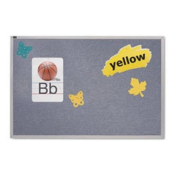 Quartet 72 x 48 in. Vinyl Tack Bulletin Board - Post notes and pictures, on the Quartet 72 x 48 in. Vinyl Tack Bulletin Board. High on functionality, the vinyl board has excellent pin-holding and resealing properties. With its vinyl surface, this bulletin board will last for many years. Made in the USA, it's a must-have to display notes and pictures in schools and offices. This tack board comes with heavy-gauge aluminum frame that adds to its durability. It's easy to clean this message board with mild soap and water.About United StationersDedicated to making life in the office more organized, efficient, and easier, United Stationers offers a wide variety of storage and organizational solutions for any business setting. With premium products specifically designed with the modern office in mind, we're certain you will find the solution you are looking for.From rolling file carts to stationary wall files, every product in the United Stations line is designed with one simple goal: to improve office efficiency. In turn, you will find increased productivity, happier, more organized employees, and an office setting that simply runs better, with the ultimate goal of increasing bottom line profits.