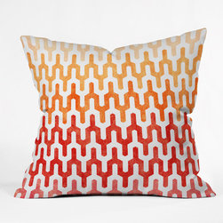 "DENY Designs - Arcturus Warm 1 Throw Pillow - Wanna transform a serious room into a fun, inviting space? Looking to complete a room full of solids with a unique print? Need to add a pop of color to your dull, lackluster space? Accomplish all of the above with one simple, yet powerful home accessory we like to call the DENY Throw Pillow! Features: -Pillow. -Arcturus Warm collection. -Fabric: Woven polyester. -Closure: Sealed. -Care: Spot treatment with mild detergent. -Manufacturing 6 color dye process custom printed for every order. -Made in the USA.Dimensions: -Small: 26"" H x 26"" W x 7"" D: 4 lbs. -Medium: 20"" H x 20"" W x 6"" D: 4 lbs. -Large: 18"" H x 18"" W x 5"" D: 3 lbs. -Extra Large: 16"" H x 16"" W x 4"" D: 3 lbs."