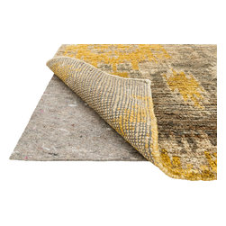"""Loloi Rugs - Loloi Rugs Dual Grip Felted Rug Pad Collection - Grey, 12'-0"""" x 15'-0"""" - Easily Trimmed to fit. Prevents rug from wrinkling, buckling, shifting and slipping.  Provides premium cushioning and insulation."""