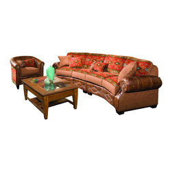 Chelsea Home Furniture - Chelsea Home 2-Piece Living Room Set in Downing Harvest - Stagecoach Redwood - Jackson 2-Piece living room set in Downing Harvest - Stagecoach Redwood Pillows belongs to the Chelsea Home Furniture collection