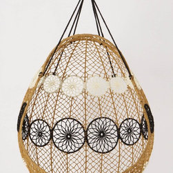 Knotted Melati Hanging Chair, Natural Motif - Plop some pillows inside, give me a good book and a breezy day and I am good to go in this beautiful hanging chair!