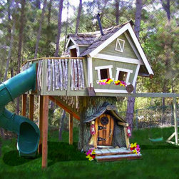 Monkey Mansion Treehouse - Somehow I think I grew up in the wrong house. What kid wouldn't absolutely LOVE this playhouse? I feel cheated!