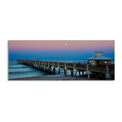 Ready2HangArt - Ready2hangart Bruce Bain 'Blue Pier' Canvas Wall Art - This beautiful canvas wall art is from photographer Bruce Bain. His work employs elements of imagination to capture a variety of subjects. It is fully finished, arriving ready to hang on the wall of your choice.