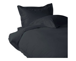 100% Egyptian Cotton 600 TC Duvet Set Solid Queen, Elephant Grey - You are buying Duvet Set, includes 1 Duvet Cover and 2 pillowcases only. A few simple upgrades in the bedroom can create the welcome effect of a new beginning-whether it's January 1st or a Sunday. Such a simple pleasure, really-fresh, clean sheets, fluffy pillows, and cozy comforters. You can feel like a five-star guest in your own home with Sapphire Linens. Fold back the covers, slip into sweet happy dreams, and wake up refreshed. It's a brand-new day.