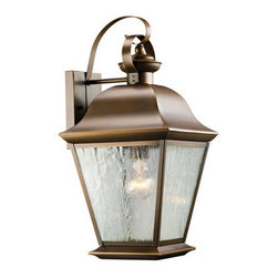 "Kichler - Kichler 9709OZ Mount Vernon Collection 1 Light 20"" Outdoor Wall Light - Kichler 9709 Mount Vernon Outdoor Wall Light"