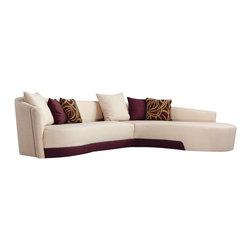 Armen Living - Armen Living Modern Two-Tone Fabric Sectional - Armen Living - Sofas - LC2029CR3BE