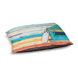 DiaNoche Designs - Dog Pet Bed Fleece - Sun.Fun.Young - The comfort of your pet is of the utmost importance. But shouldn't their furniture match yours? DiaNoche Designs gives your pet some clout with our stable of international artists designs on their new bed.