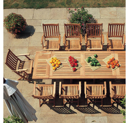Contemporary Outdoor Tables by authenTEAK Outdoor Living
