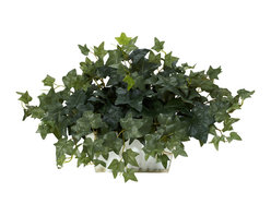 Nearly Natural - Ivy with White Wash Planter Silk Plant - Materials: Polyester material,plastic,iron wirePlant type: IvyFlowing clusters of leaves