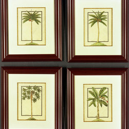 One Coast Design - Small Palm Series of 4 - This series of small palm trees was painted directly on woven balsa wood to give that casual island vacation feeling anywhere you want it. Choose one or all four, these Tommy Bahama inspired pieces with bring a feeling of relaxed serenity to any setting. And they are decked out with Swarovski crystals!
